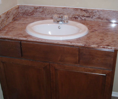 Sink in a Marble Countertop